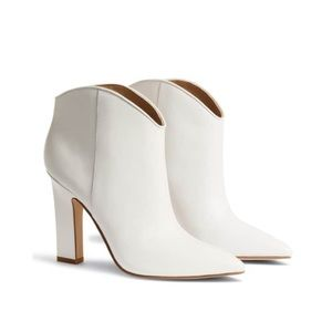 Marc Fisher Miggi White Ankle Bootie